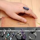 Wire Wrap Hexagon Crystal Healing Point Chakra Gemstone Charm Bead Ring Cool HOT