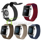 Magnetic Buckle Leather Loop WatchBand Strap For Apple Watch iWatch 38/42mm New