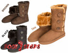 Ladies Faux Suede & Faux Sheepskin Tall Fashion Slipper Boots by Coolers
