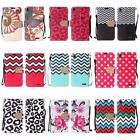 For ZTE Warp Elite N9518 Design PU Leather Bling Flip Wallet Cover Case