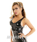 NEW Black Latex Rubber Unisex Tight Fitting Vest (ENGLISH) S M L XL