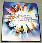 LOT OF 3 STAR TREK MOVIES BINDERS TRADING CARD ALBUMS SET RITTENHOUSE ARCHIVES