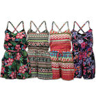 Ladies Jumpsuit Womens Playsuit Aztec Floral Print All In One Strappy Summer New