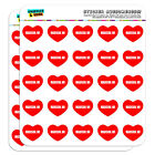 """1"""" Scrapbooking Crafting Stickers I Love Heart City State L-N"""