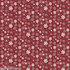 "2.2m/86""  wipe clean pvc christmas snowy xmas red oilcloth TABLECLOTH CO"