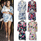Ladies Blazer Womens Shorts Floral Celebrity Jessica Wright Skorts Hot Pants New