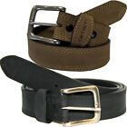 "Carhartt Leather Belt Men Detroit 1-3/8"" Triple Stitching Belts 2202 Brown Black"