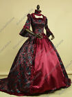 Renaissance Queen Elizabeth Dress Ball Gown Long Train Reenactment Costume 159