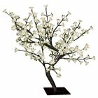 THE BENROSS CHRISTMAS WORKSOP 45CM CHERRY TREE WITH 48 LED'S WHITE 6460
