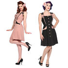 Womens New Pink Rockabilly 40s 50s Vintage Pinup Party Prom Tea Dress