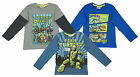 Boys Teenage Mutant Ninja Turtles Turtle Power TMNT Long Sleeve Top 6 - 12 Years