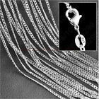 """1/5x Wholesale lots 925 Sterling Silver 2MM Rolo Curb Chain Necklace 16""""-30"""" TB"""