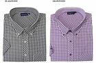 ESPIONAGE Cotton Blend Short Sleeve Gingham Check Shirt,Size 2XL-8XL,2 Options