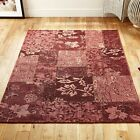Designer Patchwork Pink Tapestry Rugs - 5 Size Inc Large & A Hallway Runner