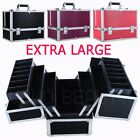 Large Beauty Box Makeup Cosmetic Vanity Nail Tech Jewellery Saloon Case NEW Gift