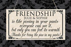 Personalised Shabby Plaque Friendship Best Friend Thank you Chic Birthday Gift