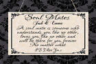 Personalised Shabby Plaque Soulmates Soul Mate Love Wedding Anniversary Gift