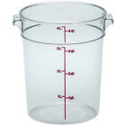Cambro RFSCW4135 Round Storage Container Clear 4 Qt.