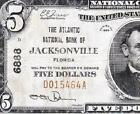 Nice *SCARCE* 1929 $5 JACKSONVILLE, FL National Note! FREE SHIPPING! D015464A