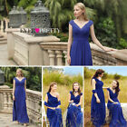 Ever Pretty Women's Bridesmaid V-neck Long Party Evening Formal Prom Dress 08633