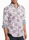 Robert Graham Chitwood Embroidered Paisleys Floral Print Shirt M Medium $290