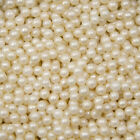 Ivory Edible Sugar Pearls Dragees Decoration Balls, 5mm