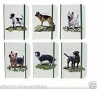 A6 Notebook Book with Elastic Strap Westie Black Lab Collie Leonardo Collection