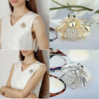 Luxury Gold Silver Plated Bee Rhinestone Crystal Insect Brooch Pin Bouquet