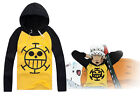 One Piece Trafalgar Law Long-Sleeve Hoodie Outfit Costume Cosplay Party All Size