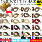 """7A 16""""-22"""" Pre Bonded Stick I Tip Thick 100% Remy Human Hair Extensions 1g/s UK"""
