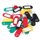KEY ID TAGS MULTI COLOURED FOB RING IDENTIFIERS + NAME CARD