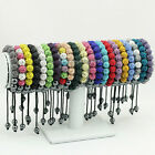 10mm*11 CZ Crystal Clay Disco Ball Micro Pave Shamballa Bead Bracelets,Wholesale