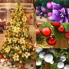 77 Pcs Assorted 7cm 6cm 4cm Size Xmas Christmas Tree Decoration Baubles Ball UK