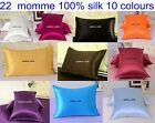 1pc 22 Momme 100% Pure Silk Charmeuse Pillowcase Cushion Cover Baby Bolster Size