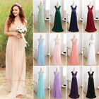 Women's Long Bridesmaid Evening Party Gown Formal Prom Dresses 08697 AU Sz 8-20
