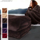 Soft Fleece Throw Blanket Home Living Room Sofa Couch Bed Bedding Colour Choice