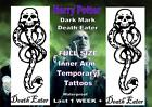 HARRY POTTER DARK MARK DEATH EATER temporary LARGE TATTOOS  tattoo LAST  1WEEK +