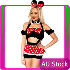 Adult Women Minnie Mini Mickey Mouse Fancy Dress Party Hens Costume outfit