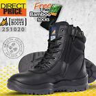 Mongrel Boots Work Safety Security 251020 Steel Toe High Leg Black Zip Sider New