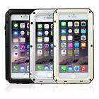 "Waterproof Aluminum Glass Metal Case Cover for iPhone 5s 6S 4.7"" & 6S Plus 5.5"""