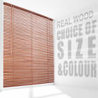 Wooden Venetian Window Blinds Slats Shade Multiple Sizes Choice of Colour
