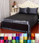 16 Momme 100% Pure Silk Seamed Fitted Sheet Flat Sheet Pillowcase Set King Size