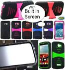 NP ARMOR Case with BUILT IN SCREEN PROTECTOR Faceplate Phone Cover Case For HTC