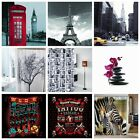Multiple Style Waterproof Fabric Bathroom Shower Curtain with Hooks Great DUK