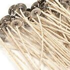"HTP 73 COTTON CORE PRETABBED WICKS 6"" LENGTH GREAT IN SOY OR PARAFFIN WAX"