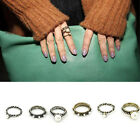 Chic Punk Fashion Women Antique Midi Knuckle Ring Rings 3 Pcs/Set Jewelry Retro