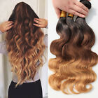 3 bundles Peruvian Virgin Remy body wave ombre hair extensions 150g Ombre