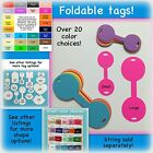 Round foldable tags, price, card stock, many color choices, small medium large