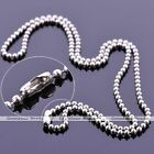 Bulk 2mm Silvery Stainless Steel Ball Bead Chain Necklace For Pendant 20-30""