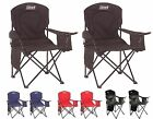2) Coleman Camping Outdoor Oversized Quad Portable Folding Lawn Chairs with Bag